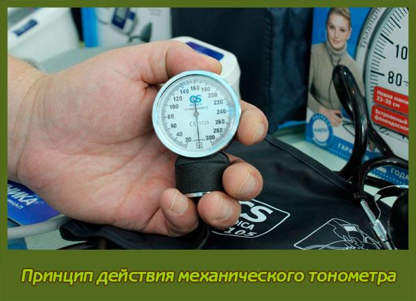 Принцип действия механического тонометра